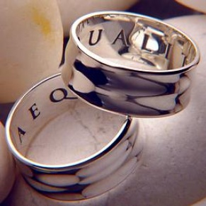 Aequalitas Ring (equality Of Rights) : Leonardo Da Vinci - Posey & Inscribed Ring