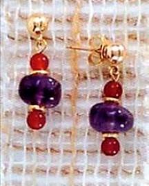 Egyptian Amethyst Drop Earrings