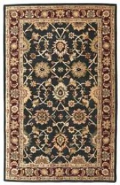 Kashan - Black / Plum Rug : Persian Tufted Collection