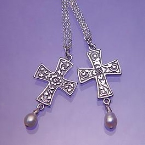 Renaissance Foliated Cross Necklace