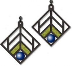 Walser House Earrings - Frank Lloyd Wright