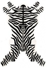Zebra Design Rug : Contemporary Tufted Collection