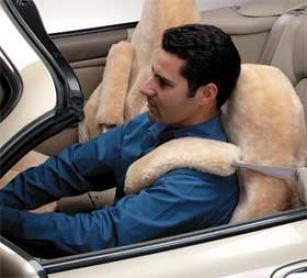 Blue Ribbon Motoring Sheepskin Bottom Belt Cover - Pair - Car, Truck Or Suv