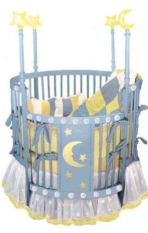 Blue Star Round Crib