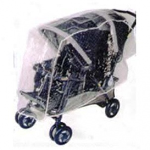 Tandem (front & Hinder part) Stroller Rain & Weather Shield