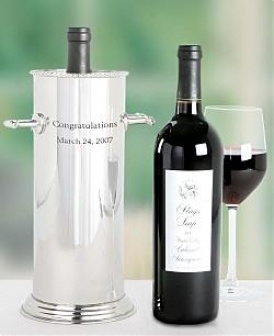 Engraved Wine Holdrr With Stags' Leap