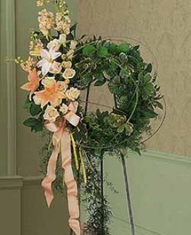 Peach Solace Wreath