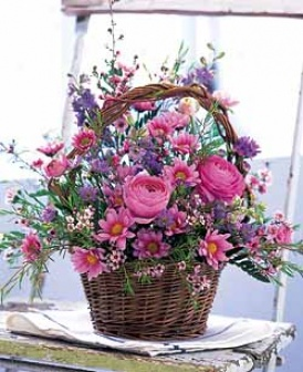 Pink & Lavender Garden Basket