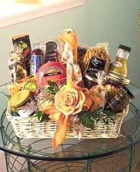 Single Rose Gourmet Basket