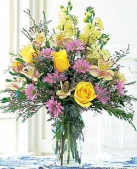 Yellow & Lavender Bouquet
