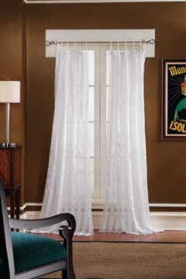 Crinkle Stripe Tab Top Panel Tab Top Panel 84 X 52 Tab Tops Curtains