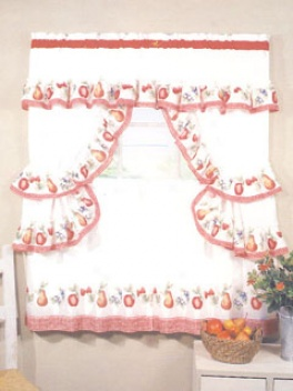 Fruitopia Cottage Set Fulfil Window Set 36 X 57 Tier Curtains Curtains