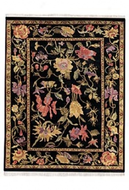 Panama Orchids Midbight ?3' X 2' Area Rug