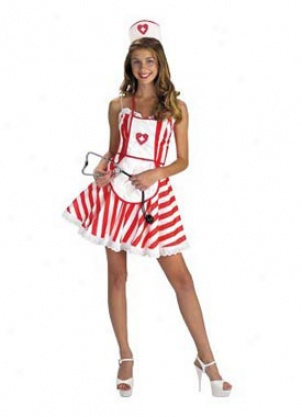 Adult Candy Stripe Costume