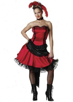 Adult Deluxe Saloon Gal Costume