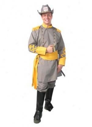 Adult Plus Confederate Officer Costume