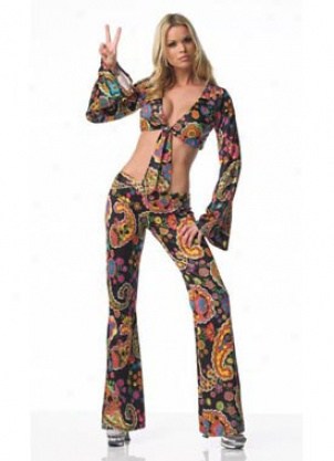 Adult Sexy Retro Paisley Costume