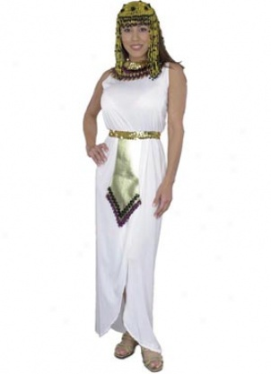 Adult White Cleopatra Costum3