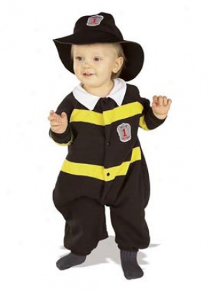 Infant Cuddly Firefighter Costume