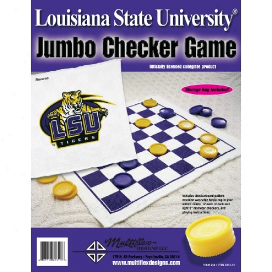 Checkers Rug Lsu