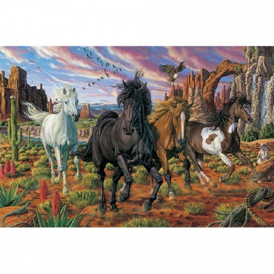 Horses In The Gorge Jigsaw Puzzle 3000pc