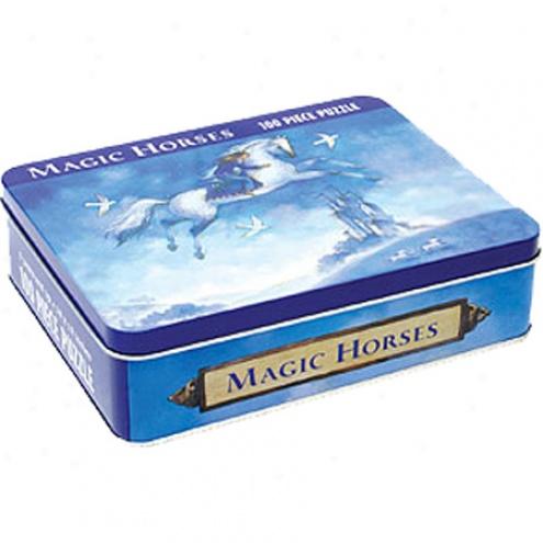Magic Horses 100pc iJgsaw Puzzle Tin