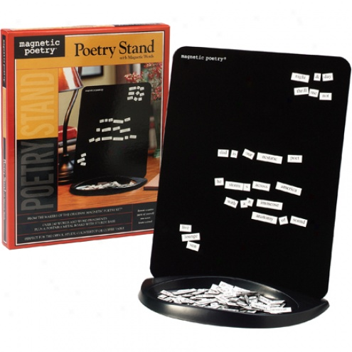 Magnetic Poetry Stand