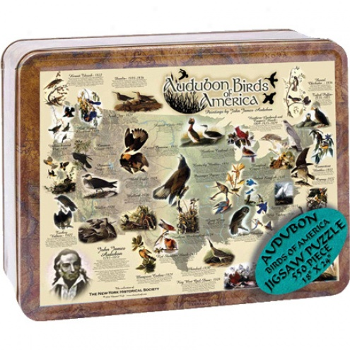 Puzzle Tin Audubon Birds Of Ameica