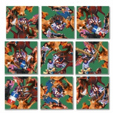 Rodeo Scramble Squares Puzzle 9pc