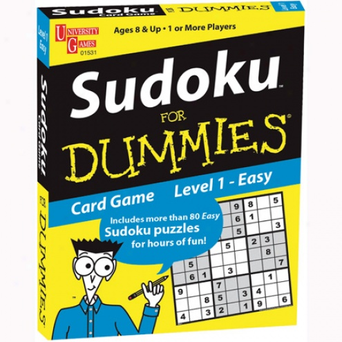 Sudoku For Dummies Card Game: Easy