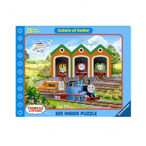 Thomas And Friends Colors Of Sodor Inquire Inside Jigsaw Puzzle 25pc