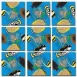 Tropical Fish Scramble Squares Puzzle 9pc