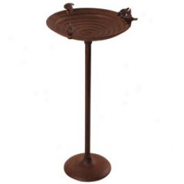 Cast Irin Bird Bath Steady Pole