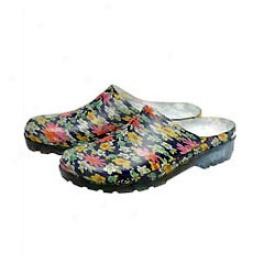 Floral Clogs