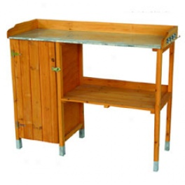 Fsc Potting Table With Storage Buffet