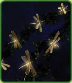Glod Dragonfly Party Lights