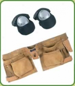 Leather Tool Belt And Knee Pads