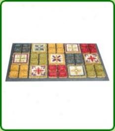 Natural Coconut Doormat - Mexican Tile