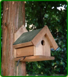 Nesting Box With Felt Roof