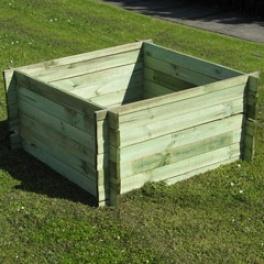 Panelled Wooden Compost Bin