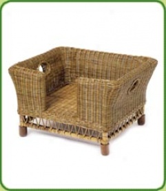 Rattan Dog Bed Small
