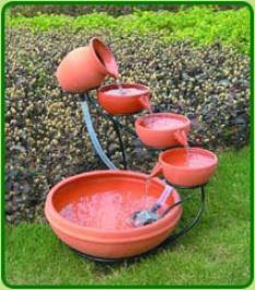 Solar Terracotta Cascade & Solar Pump