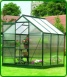 Green-Framed Aluminium Greenhouse 6'x6'