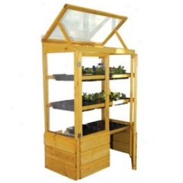 Wooden Lean-to Greenhouse