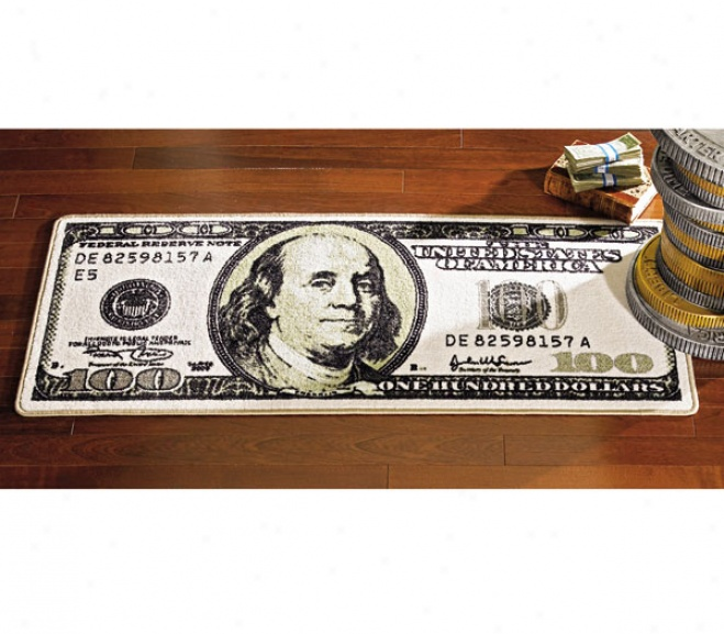 100 Dollar Bill Floor Mat