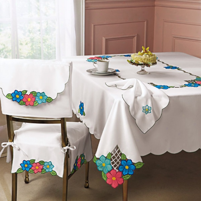 Bright Flowers Tablecloth