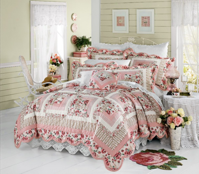 Cassie Handmade Cotto Quilt Set With Shams Quilt With Shams