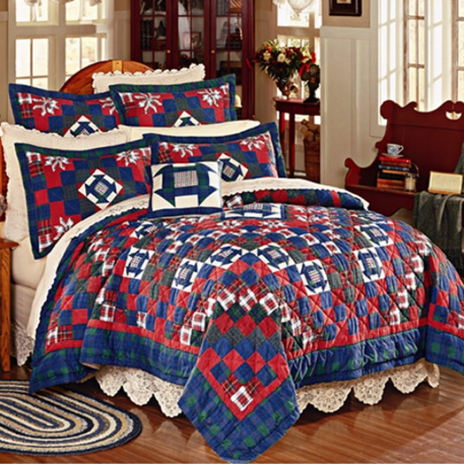 Wood Walk Cotton Quilts With Shams Quilt With Shams