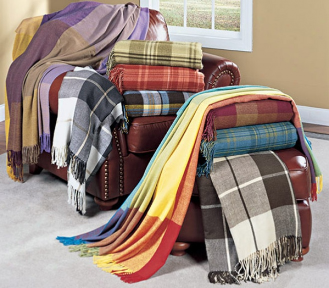 Handwoven Plaid Throws