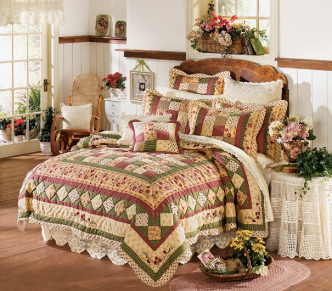 Provence Manor Cotton Quilt With Shams
